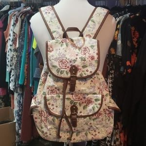 Mossimo Floral Canvas Backpack